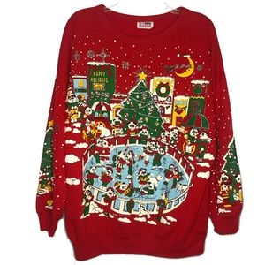 Vintage Ugly Christmas Sweater Bear Graphic
